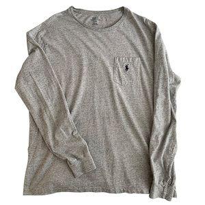 Polo Ralph Lauren Grey Long Sleeve Designer Shirt